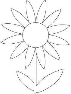 Spring Flowers Colouring Pages Print Free