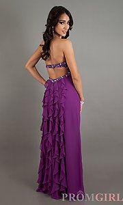Floor Length Strapless Faviana Dress on Ashley Benson
