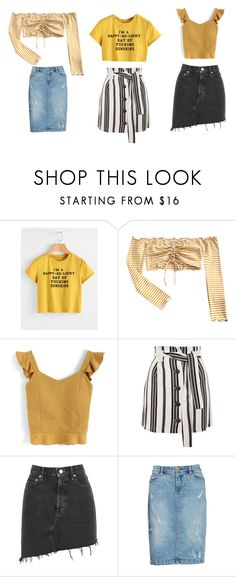 """Casual look"" by miloni-jhaveri on Polyvore featuring Chicwish, Topshop, AGOLDE and BLANKNYC"