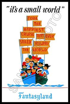 its a small world poster - Google Search