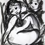 Claerhout, Fr, Frans Martin, 1919 - 2006 - Nude study, mixed media