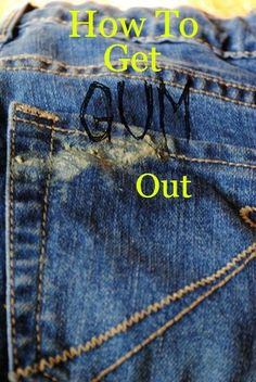 DIY Hacks for Ruined Clothes. Awesome Ideas, Tips and Tricks for Repairing Clothes and Removing Stains in Clothing | How To Get Gum Out With Vinegar Cleaning Recipes, Diy Cleaning Products, Cleaning Tips, Diy Cleaners, Cleaners Homemade, Diy Hacks, Cool Diy, Remove Gum From Clothes, Most Comfortable Jeans