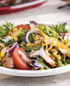 Salade au poulet barbecue et à la vinaigrette Campagne #recette