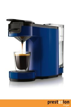 philips senseo hd7880 71 cafetera (independiente azul sistema de capsulas vaina 0 7l 0 8m)