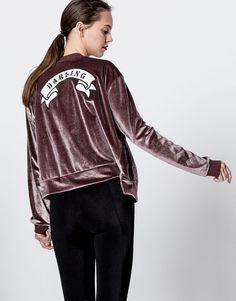 Patch velvet jacket - Coats and jackets - Clothing - Woman - PULL&BEAR Mexico