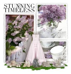 """""""Tea at Lilac Cottage"""" by stylebyrachelle ❤ liked on Polyvore featuring Maticevski, MANGO, Yestadt Millinery, J.Crew, Judith Ripka, Ippolita, Ralph Lauren, Elegant, summeroutfit and summer2015"""