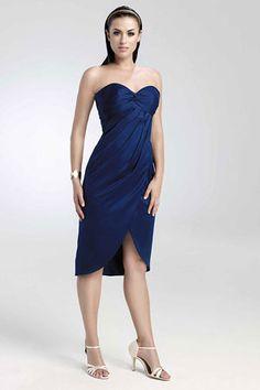 short blue bridesmaid dresses  #2 choice