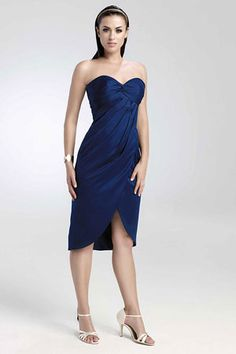 short blue bridesmaid dresses  #2 choice