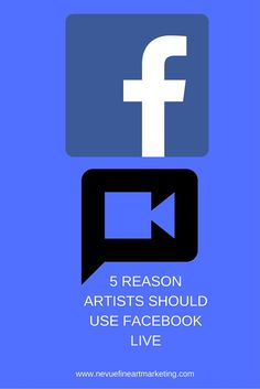 5 REASON ARTISTS SHOULD USE FACEBOOK LIVE  Do you use Facebook live for your art business? If you don't, you might want to consider implementing Facebook live into your monthly marketing strategy. In this article, you will discover 5 reasons artists should use Facebook live to grow ...  www.nevuefineartm...