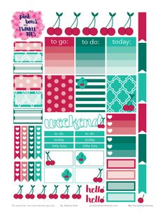 FREE Cheery-Cherries-Sticker-Sheet by Pinkbow & Twinkle toes