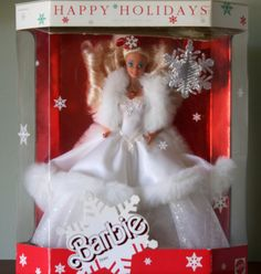 Vintage 1989 Holiday Barbie Doll Limited by PaintedOnPlaques, $250.00