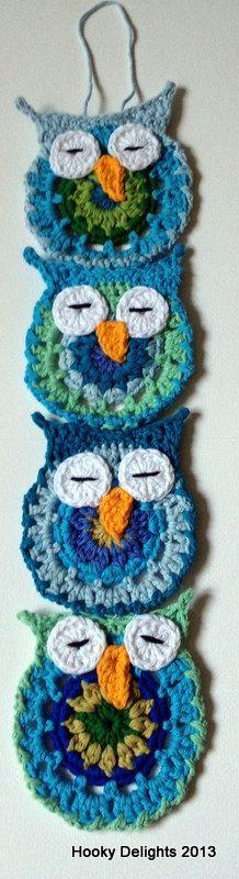 Crochet Owl wall hanging.