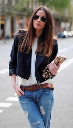 aviators, little black jacket & jeans