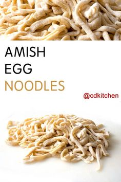 If you've never had homemade egg noodles you've been missing out! If you have the time to make them it is totally worth it. The process isn't very difficult and only uses a few ingredients. | CDKitchen.com
