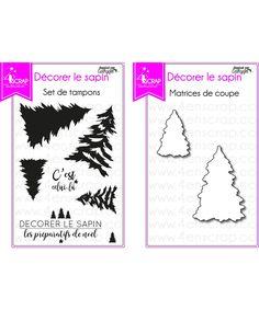 """Le mini set de tampons & matrices """"Décorer le sapin"""" #4enscrap"""