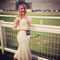 Beautiful @hollymcnaboe wearing #JarloLondon #Alicia midi dress in all over lace for #RoyalAscot #Ascot <3 What a lovely look!