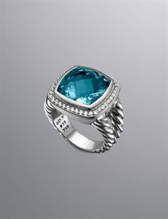 My birthstone - David Yurman blue topaz ring