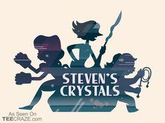 Steven's Crystals T-Shirt - http://teecraze.com/stevens-crystals-t-shirt/ -  Designed by chocopants    #tshirt #tee #art #fashion #clothing #apparel