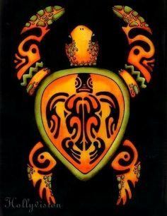 tribal turtle tattoo me and my mom are getting! Hawaiian Turtle Tattoos, Tribal Turtle Tattoos, Turtle Tattoo Designs, Hawaiian Tattoo Traditional, Reptiles, Filipino Tattoos, Polynesian Tattoos, Sea Turtle Art, Sea Turtles