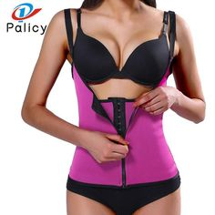 cadfdf1c73 Palicy Bodysuit Women Modeling Strap Slimming Waist Trainer Fat Burning  Body Shaper Tummy Waist Cincher Tank Shapewear Plus Size