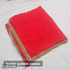 Fancy Georgette Lace Border Sarees from Stf Store Border Pattern, Lace Border, Indian Bridal Outfits, Cut Work, Chiffon Saree, Best Budget, Designer Wear, Types Of Fashion Styles, Trendy Fashion