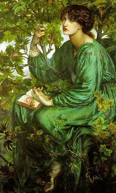 "1880 ~ ""The Day Dream"" by Dante Gabriel Rossetti (1828-1882), British Poet, Illustrator, Painter & Translator, who founded the Pre-Raphaelite Brotherhood in 1848 with William Holman Hunt & John Everett Millais ...."