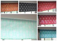 Tribal Arrow Window Valance Curtain by LittlestBeanBoutique