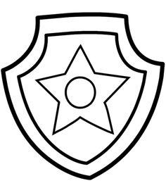 Paw Patrol Chase Badge Kolorowanka. Kategorii: Psi patrol. Darmowe kolorowanki…