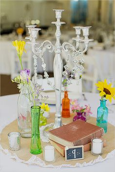 Colorful wedding decor and details.