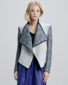 Sachin + Babi Navarre Mix-Fabric Jacket on shopstyle.com
