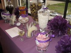 wedding apothecary jars candy table diy reception scoops Candy Table