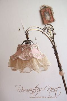 #Shabby #Chic make your house a home - Vintage pink lampshade.. http://www.myshabbychicstore.com Please Repin - Thank You:)