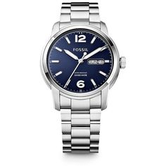Fossil Swiss Made Day/Date Stainless Steel Watch $695