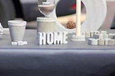 """Beton Buchstaben """"Home"""""""
