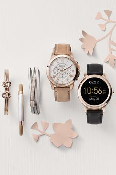 For the tech-savvy mom, our wearable collection makes the perfect gift. Our Q Grant and Q Founder smartwatch are two of our favorites. Pair it with rose gold jewelry and you've got the ultimate gift.