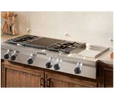 KitchenAid® 48 Inch 6 Burner With Grill, Gas Rangetop, Commercial