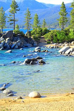 Sand Harbor In June, Lake Tahoe, Nevada |