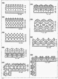 Crochet and crochet: Design Gallery for finishing edges and crochet