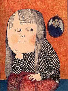 Ilustración de Beatrice Alemagna para su obra ¿Qué es un niño?