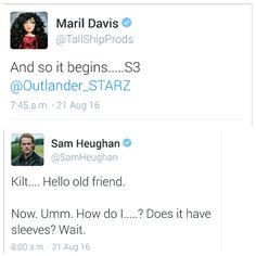 "Inverness Outlanders on Twitter: ""Outlander  Season  3 starts filming today . Let the Voyage begin #Voyager #Scotland  @Outlander_STARZ @AmazonVideoUK"