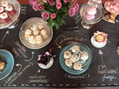 The Dinky Cakes display table