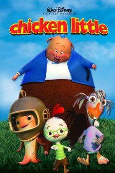 Ahhh I can't believe I forgot about chicken little! its my brother's favourite movie ,he is 24 >< Disney Animated Movies, Pixar Movies, Disney Movies, Animation Film, Disney Animation, Disney Fun, Disney Pixar, The Sky Is Falling, Small Canvas Paintings