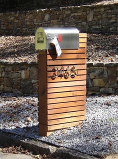 Mailbox - use pallets, bold numbers and have flowers coming out.front landscaping idea (With this.I would actually build my own mailbox)