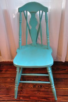 turquoise painted chairs - Google Search