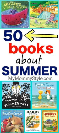50 picture books about summer 50 books about summer. If you are teaching summer school or just have kids of your own, this list is sure to be a time saver this summer. Some REALLY good books to read w Summer Activities, Craft Activities, Preschool Summer Theme, Summer School Themes, Kid Activites, Teaching Activities, Therapy Activities, Family Activities, Summer Fun