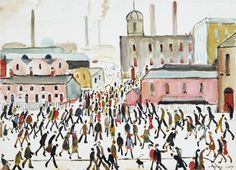 Going To Work, 1959 Art Print by L S Lowry at King & McGaw