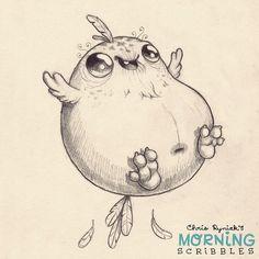 """Nachdem er die Fähigkeit zu fliegen verloren hat, sucht dieser """"Vogel"""" nach Mobilität. #morningscribbles"""