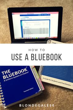Using the Bluebook