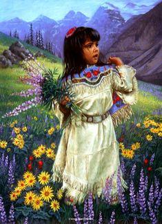 Native American children | Native American Paintings by Karen Noles 82 Native American Paintings, Native American Artists, Native American Photos, Native American Beauty, Native American History, American Indian Art, American Indians, American Life, Native Americans