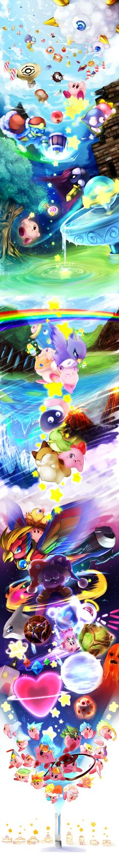 Just a cute tribute to a cute character...Kirby, my childhood character (along with Yoshi). :)